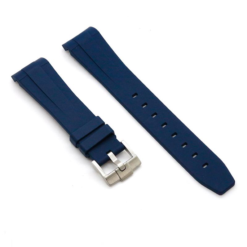 ラバーB【RUBBERB】ROLEX デイデイト40専用ラバーベルト 色:ネイビーブルー【尾錠付き】〔メンズ〕〔ラバーバンド〕※時計は付属しません