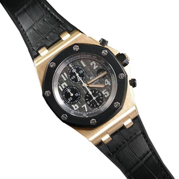 ロイヤルオークオフショアをオシャレに演出するラバーベルト ラバーB RUBBERB オーデマピゲ ロイヤルオークオフショア ※時計 ブラック ブランド品 引出物 42mmモデル専用ラバーベルト アリゲーター調 バックルは付属しません