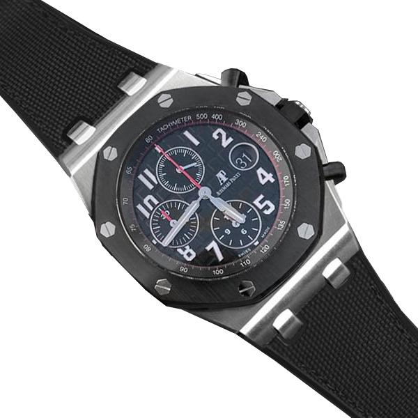 ラバーB【RUBBERB】オーデマピゲ ロイヤルオークオフショア 42mmモデル専用ラバーベルト セイルクロス調【ブラック】 ※時計、バックルは付属しません。