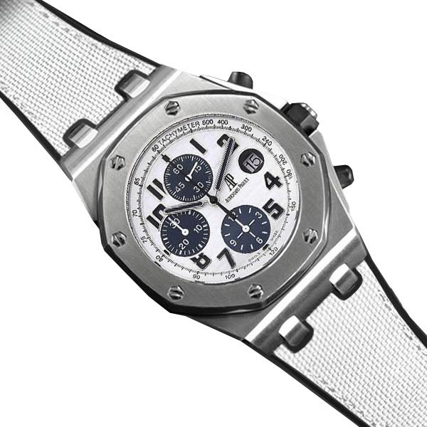 ロイヤルオークオフショアをオシャレに演出するラバーベルト ラバーB RUBBERB オーデマピゲ 予約販売品 ロイヤルオークオフショア 42mmモデル専用ラバーベルト セイルクロス調 国産品 ※時計 バックルは付属しません ホワイト