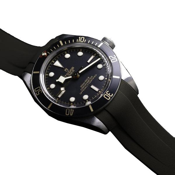 ラバーB【RUBBERB】チューダー【TUDOR】ブラックベイ58(フィフティエイト)39mm専用ラバーベルト【エスプレッソブラウン】 ※時計は付属しておりません。