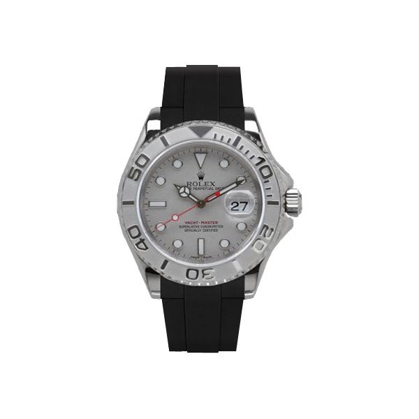 ラバーB【RUBBERB】ROLEXヨットマスター(40mm)専用ラバーベルト 色:ブラック【ROLEX純正バックルを使用】※時計、バックルは付属しません