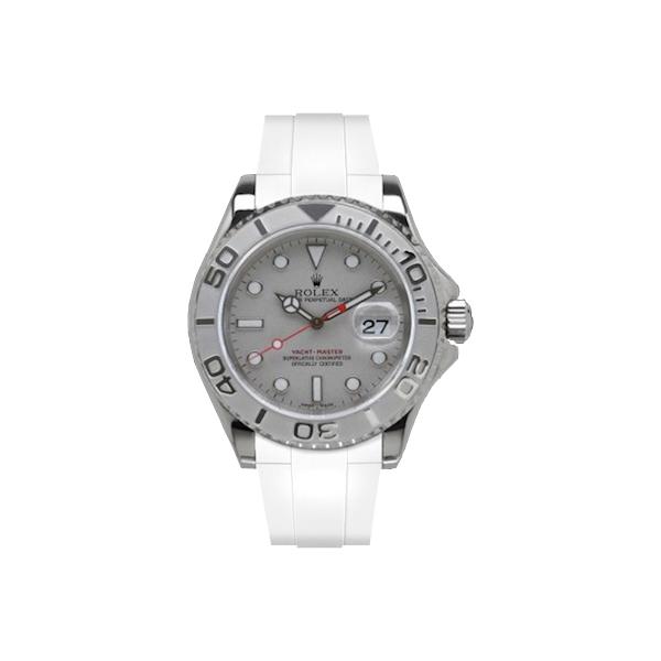 ラバーB【RUBBERB】ROLEXヨットマスター(40mm)専用ラバーベルト 色:ホワイト【ROLEX純正バックルを使用】※時計、バックルは付属しません