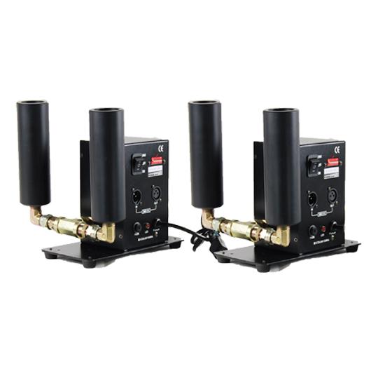 2台1セット二重管CO2 ジェットスモークマシンDMX512舞台演出特効装置