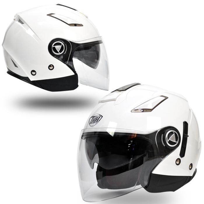 【送料無料】【THH】 開閉式インナーサンバイザー採用 ジェット ヘルメット T-396 パールホワイト 【PSC SG規格認定】全排気量対応 【THH日本総代理店】オープンフェイス