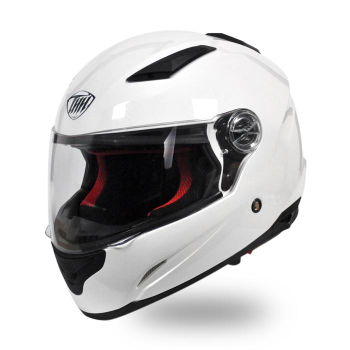 【THH】 開閉式インナーサンバイザー採用 フルフェイス ヘルメット TS-81 パールホワイト 【PSC SG規格認定】全排気量対応 【THH日本総代理店】