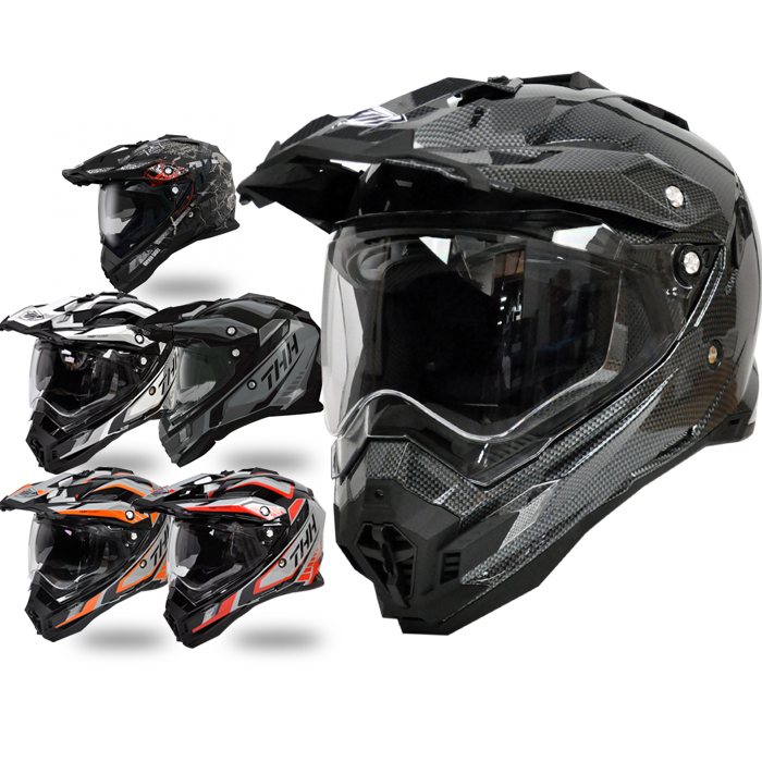 【送料無料】【THH】ピンロック対応 開閉式インナーサンバイザーオフロード ヘルメット TX-27 グラフィックモデル 【PSC SG規格認定】全排気量対応 【THH日本総代理店】 モトクロス