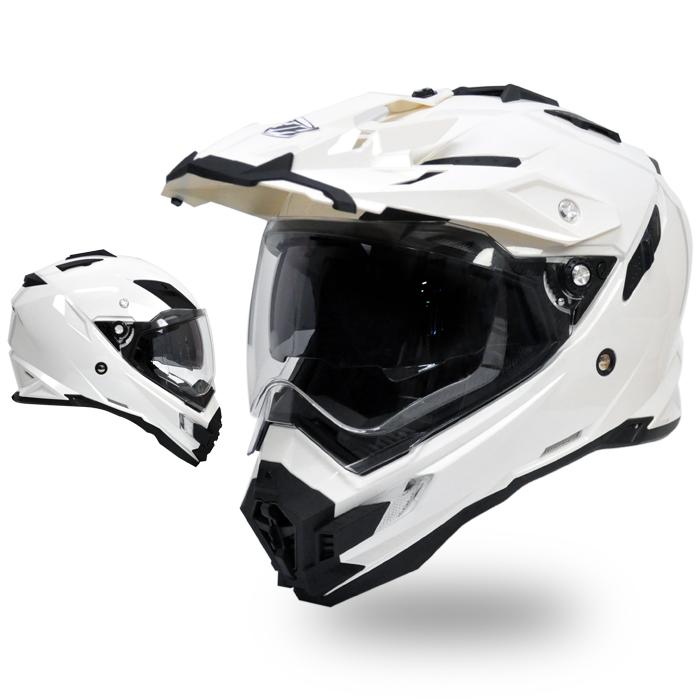 【ポイント7倍 10/17まで】【THH】 開閉式インナーサンバイザー採用 オフロード ヘルメット TX-27 パールホワイト 【PSC SG規格認定】全排気量対応 【THH日本総代理店】モトクロス