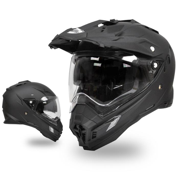 【THH】 TX-27 マットブラックインナーサンバイザー採用 オフロードヘルメット【PSC 日本国内公道走行可能のSG規格認定】全排気量対応【THH日本総代理店】