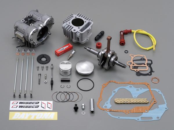 【4909449397961】【DAYTONA(デイトナ)】 フィンガーフォロアーDOHC ボア&ストロークアップキット(124.8cc) 75012 【最高、最強エンジンを目指し、デイトナ技術の粋を結集。 4stミニ エンスージアスト達に贈る「4V-ツインカムヘッドビッグボアキット」】