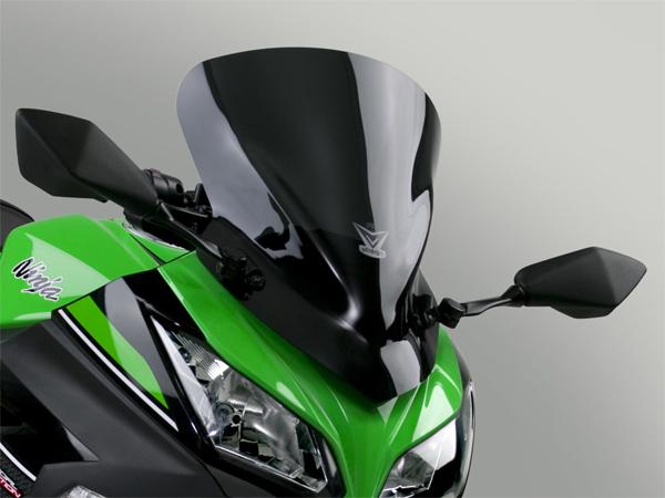 【4909449463666】【NATIONAL CYCLE (ナショナルサイクル)】 NATIONAL CYCLE (ナショナルサイクル) Vstreamウインドシールド NINJA250 ショート/ダークスモーク デイトナ 92474 Kawasaki カワサキ Ninja250('13~'14)〈EX250L〉【ツアラーの本場U.S.A.のウ