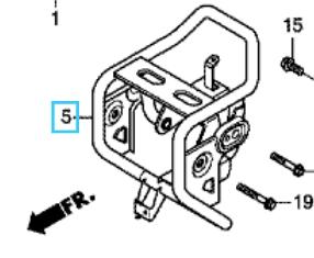 【ホンダ(HONDA)】 純正 18年モデルクロスカブ50(AA06)用 ヘッドライト ステーCOMP クラシカルホワイト 【補修や交換、カスタマイズに】 【50120K88B00ZC】