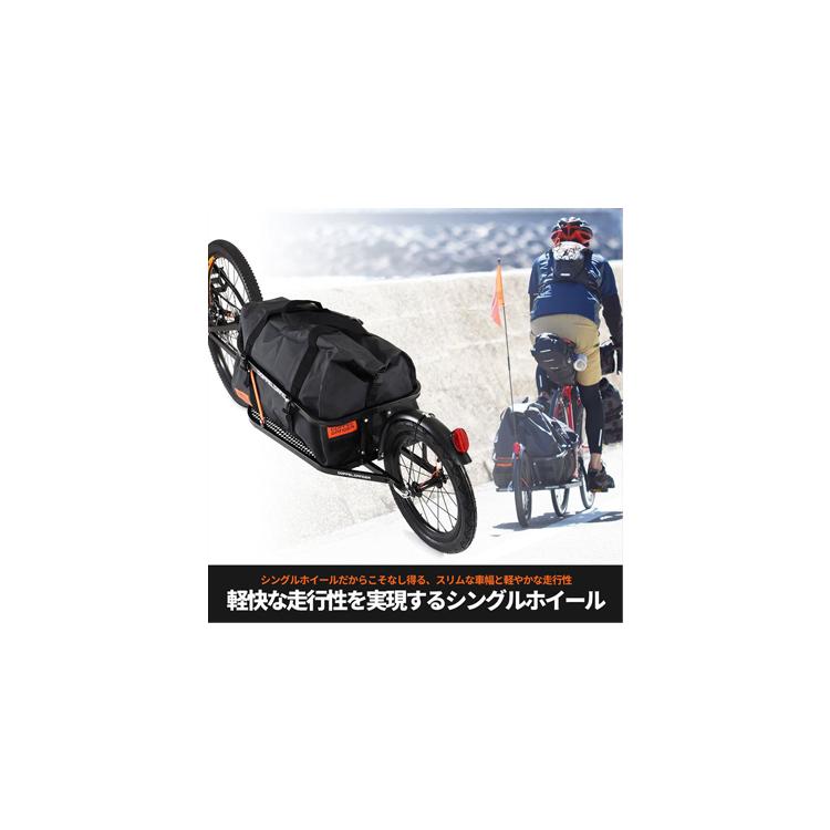 【ドッペルギャンガー】 簡単脱着 シングルホイールサイクルトレーラー DCR363-DP 60Lの防水バッグ付属 【代引き,北海道、沖縄、離島、配送不可】 【防水バッグ付属 自転車用一輪リアカー】