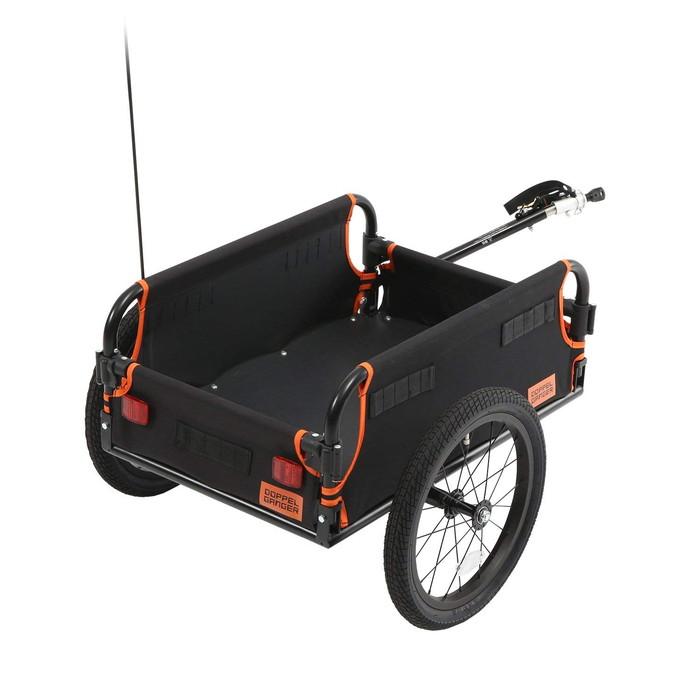 【4589946139020】【送料無料】【ドッペルギャンガー】 【積載容量65L】マルチユースサイクルトレーラー 工具不要で簡単組立折りたたみ コンパクト 【代引き、日時指定配送不可】 【ほとんどに自転車に接続できるユニバーサル設計】