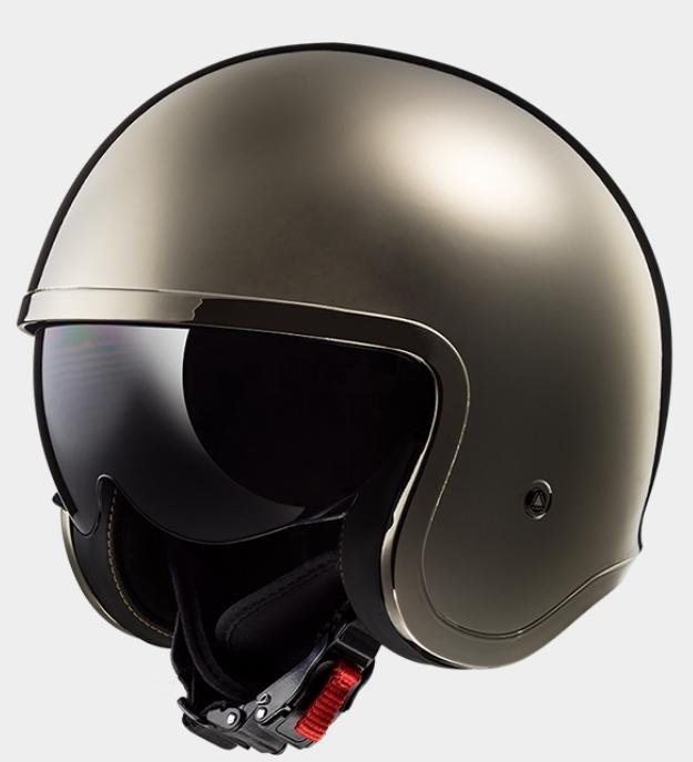 【送料無料】【LS2(エルエスツー)】 国内正規品 SG認定 インナーバイザー付 ジェットヘルメット SPITFIRE(スピリットファイヤ) レトロ 色:クローム 【レトロなルックスにモダン機能を装備】