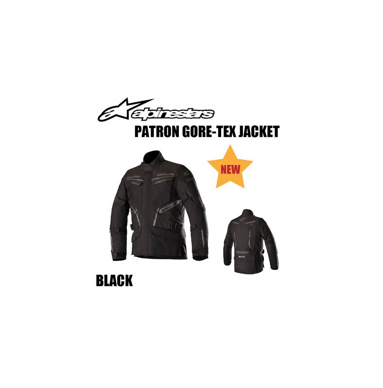 【Alpinestars(アルパインスターズ)】 PATRON GORE-TEX JACKET ブラック S~2XL パトロン ゴアテックス ジャケット ライディングジャケット 透湿防水 【[新商品!]】
