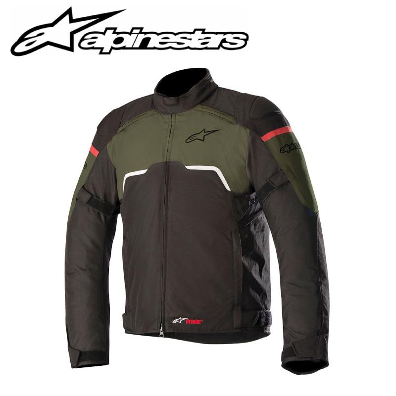 【Alpinestars(アルパインスターズ)】 HYPER DRYSTAR JACKET ブラック/ミリタリーグリーン ハイパードライスタージャケット S~2XL バイクジャケット ツーリングジャケット 透湿防水 【[NEW]】