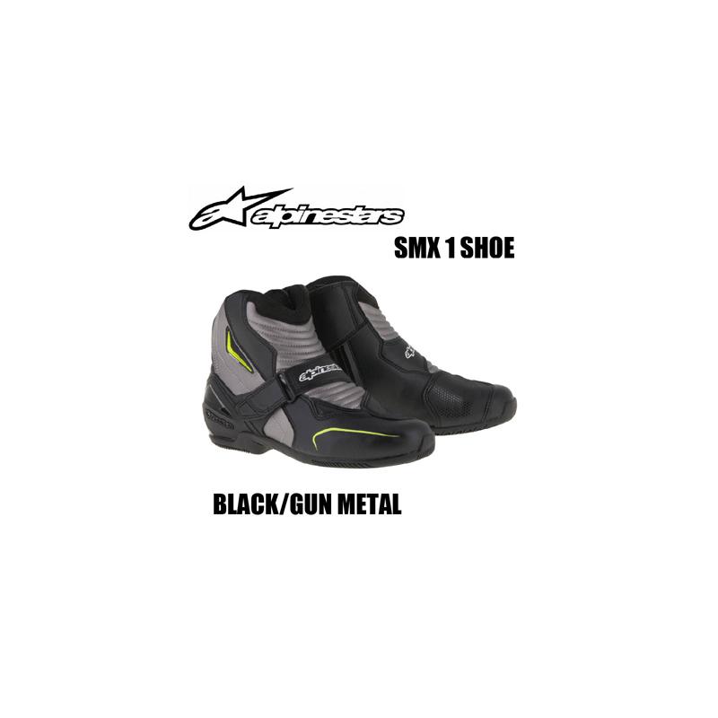 【送料無料】【Alpinestars(アルパインスターズ)】 SMX 1 SHOE BK GUN METAL ブラック/ガンメタル ライディングシューズ 【[Size: 39~45 BK GUN METAL] SMX 1 ライディング シューズ】