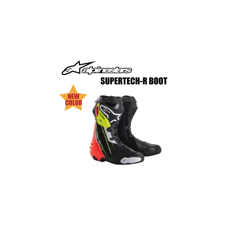 【送料無料】【Alpinestars(アルパインスターズ)】 SUPERTECH-R BOOT 0015 ブラック/レッド/イエローフロー 25.0cm~31.5cm 136 BK/RD/YLF スーパーテックR ブーツ バイクブーツ レーシングブーツ ハイテクマイクロ生地使用 軽量 【【新色!】スーパーテックR ブーツ【ブ