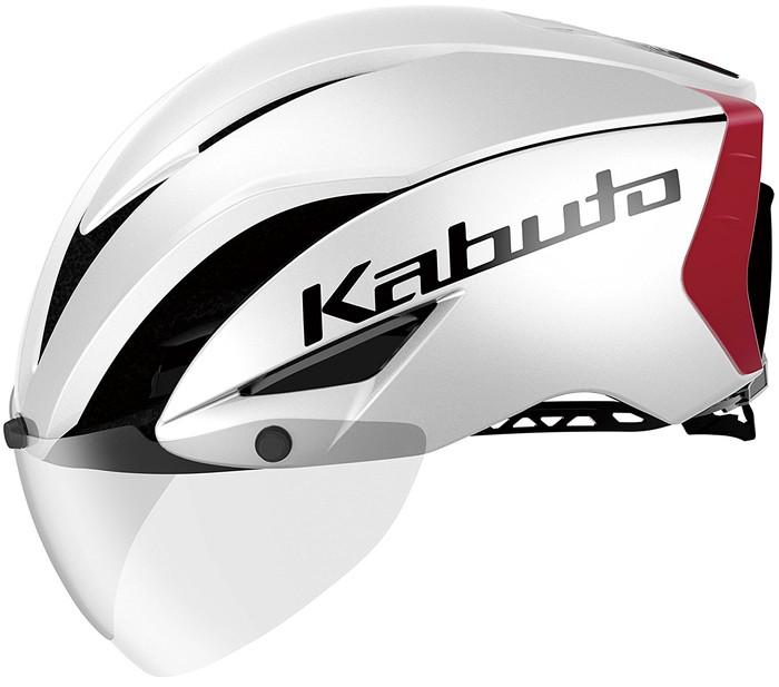 【OGK KABUTO】 AERO-R1 エアロ・R1 パールホワイトレッド-3(S/M)、パールホワイトレッド-3(L/XL) 自転車用 サイクルヘルメット スポーツヘルメット JCF(公財)日本自転車競技連盟公認 A.I.ネット、ノーマルインナーパッドセット(7mm厚)、AR-3シールド付属 瞬間消臭