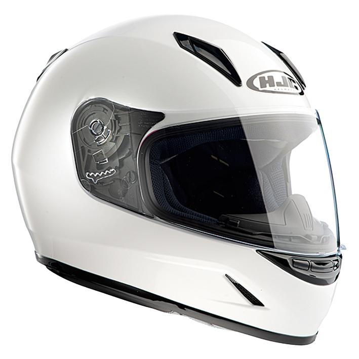 【送料無料】【HJC(エイチジェイシー)】 ホワイト Lサイズ(53-54cm) CL-Y HJH057 ブレスガード付属  バイクヘルメット フルフェイス【4997035609796】