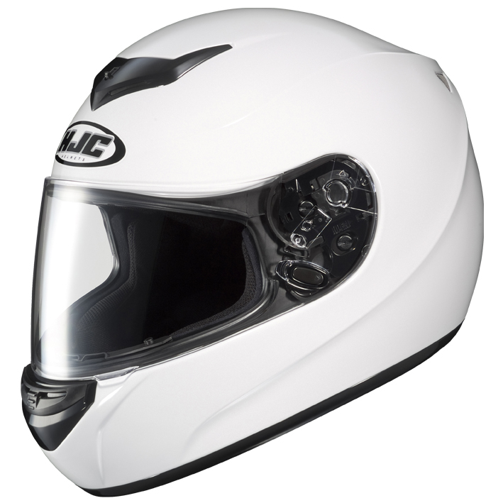 【送料無料】【HJC(エイチジェイシー)】 ホワイト Mサイズ(57-58) CL-ST HJH039  バイクヘルメット フルフェイス【4997035631186】