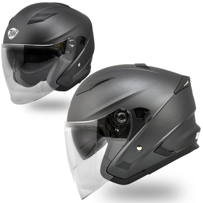 【THH】 インナーサンバイザー装備 ジェットヘルメット T-560S マットダークグレー 耳が痛くなりにくいイヤーカップ設計 全排気量対応 【thh-t560s-mdg】