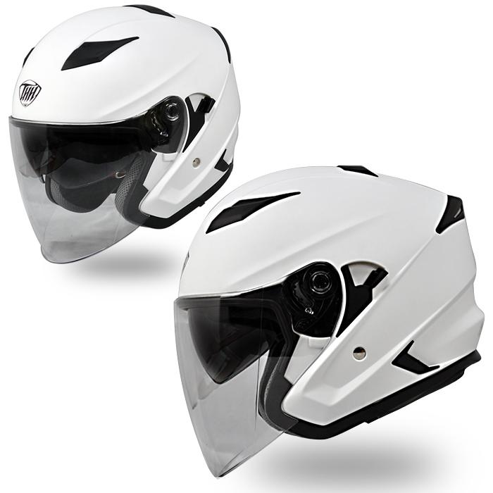 【THH】 インナーサンバイザー装備 ジェットヘルメット T-560S マットホワイト 耳が痛くなりにくいイヤーカップ設計 全排気量対応 【thh-t560s-mw】