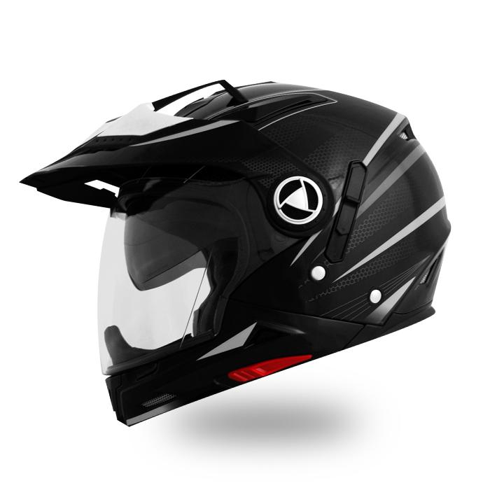 【THH】 6パターン形状変更 クロスオーバー ヘルメット [TS-45] スペクターマットグレーシルバー  ハイブリッド マルチ 全排気量対応