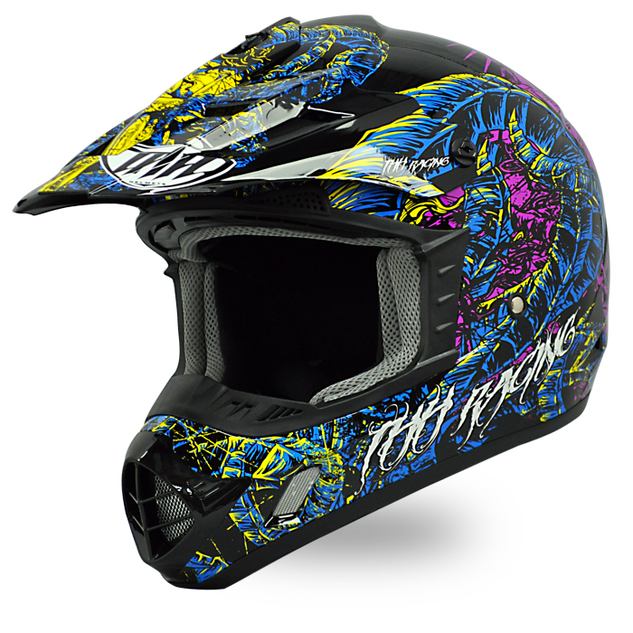 【送料無料】【THH】 オフロードヘルメット TX-12 ディアボロ マルチカラー  モトクロス 全排気量対応 【thhtx12dmc】