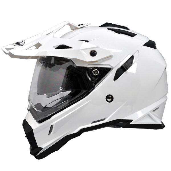 【送料無料】【THH】 インナーサンバイザー装備 オフロードヘルメット TX-28 パールホワイト  モトクロス 全排気量対応 【thhtx28w】