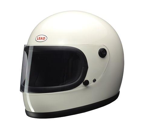 【LEAD リード工業】 【4952652150960】1980年代のリバイバルモデル フルフェイスヘルメット ホワイト フリーサイズ RX-200R