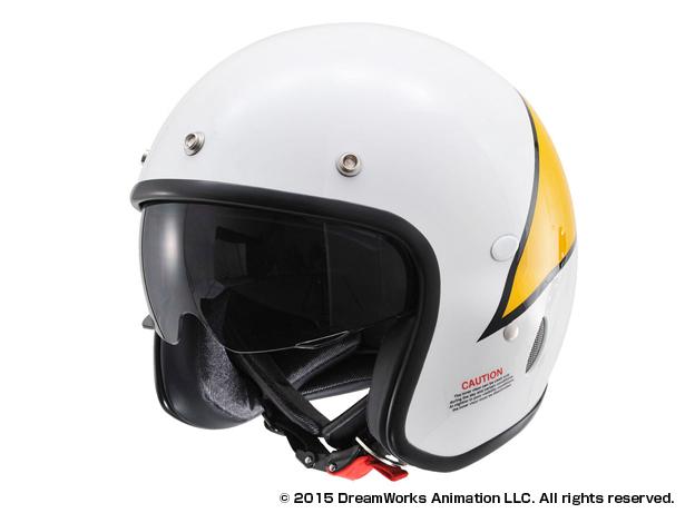 【4909449468579】【DAYTONA(デイトナ)】 Hattrick パイロットヘルメット フィリックス・ザ・キャット HT PH2 FC ホワイト Lフリー 【パイロットタイプヘルメットの真打】