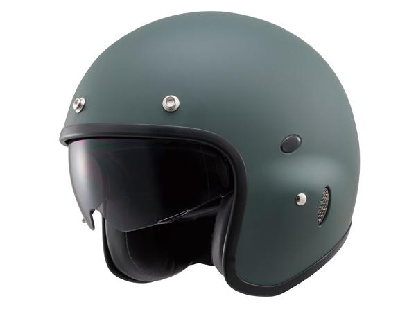 【4909449454053】【DAYTONA(デイトナ)】 Hattrick パイロットヘルメット PH-1 マットグリーン Mフリーサイズ 【パイロットタイプヘルメットの真打】