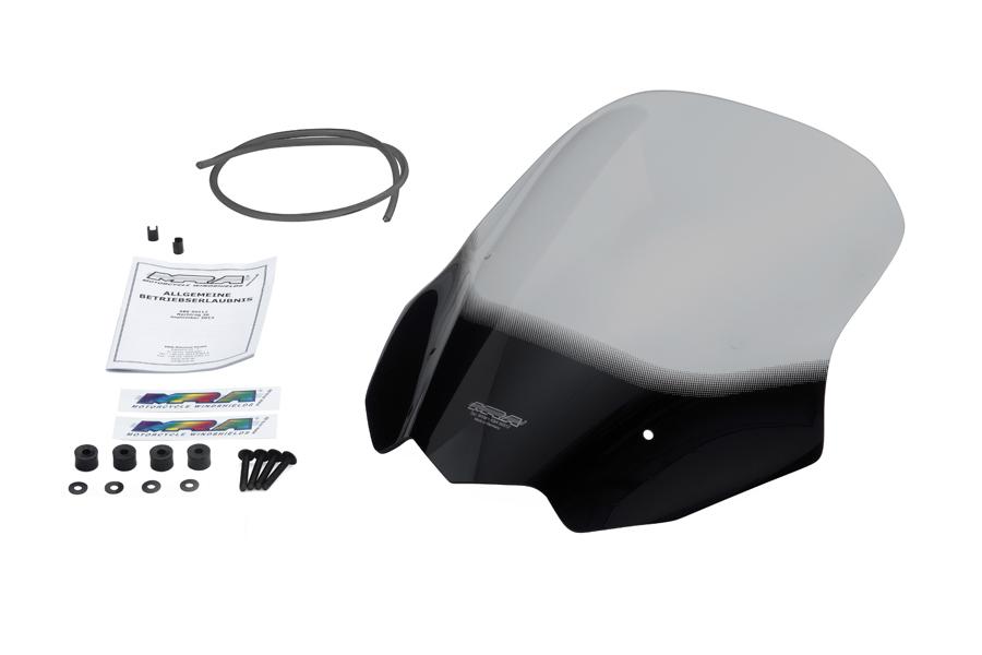 【MRA (エムアールエー)】 MRA  ウィンドスクリーン ツーリング スモーク 400X 13-15用 【優れた空力性能と透明度】