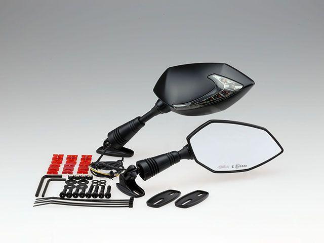 【KIJIMA】 キジマ TECH0 6ミラー with ウインカー ブラック 左右SET 【新型ミラー登場!】