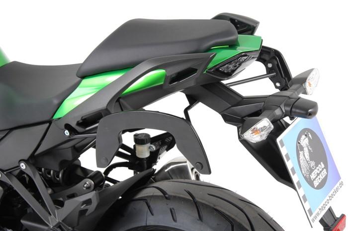 【4549950290070】【送料無料】【ヘプコアンドベッカー】 サイドバッグステー C-Bow(シーボウ) ブラック ニンジャ1000 17 適応:Ninja1000 17 【6302530-0001】 【キャリア/関連パーツ】