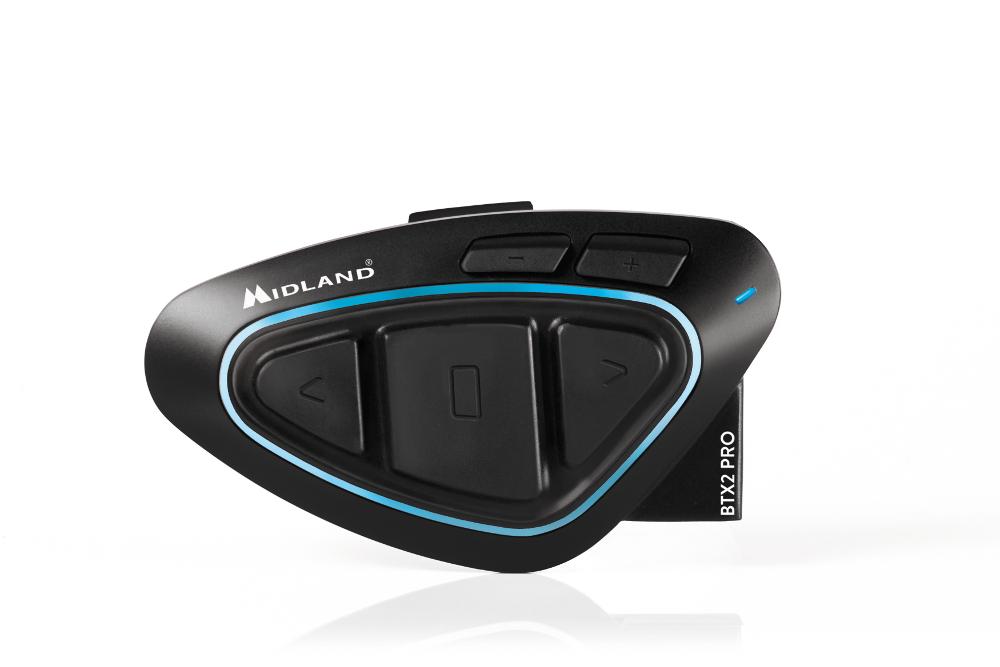 【ミッドランド】 インカム P080-1554 MIDLAND BT X2 PRO Hi-Fi シングル 適応:Hi-Fi シングル Hi-Fiスピーカーヲ付属。ワンプッシュグループ通話機能搭載(最大4人同時通話可能) 【バイクアクセサリー ツーリング用品 Hi-Fi シングル】