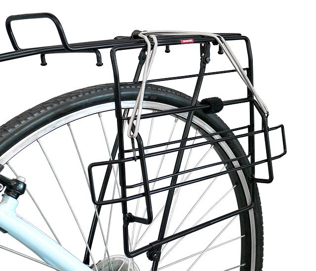 自転車用バッグホルダー 左右どちら側でもOK 4580253415234 昭和インダストリーズ 自転車用サイドサブキャリア SR-100A ブラック 左右どちら側もOK 自転車用サイドバッグホルダー ゴムバンド付 手提げバッグを立てて積載できる自転車用サイド荷台 70%OFFアウトレット お買い得品