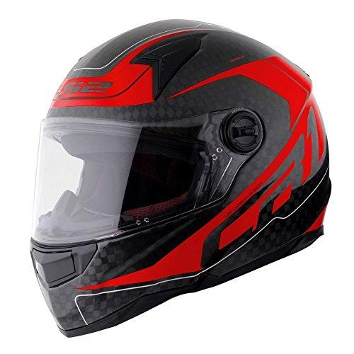 【LS2(エルエスツー)】ディアブロ (DIABLO) レッド カーボン フルフェイスヘルメット UVカットシールド・バイザー標準装備 【SG規格取得・MFJ公認】