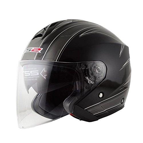 【LS2(エルエスツー)】フリーウェイ (FREEWAY) エスプリブラック ジェットヘルメット UVカットシールド・バイザー標準装備 【SG規格取得・公道走行可】