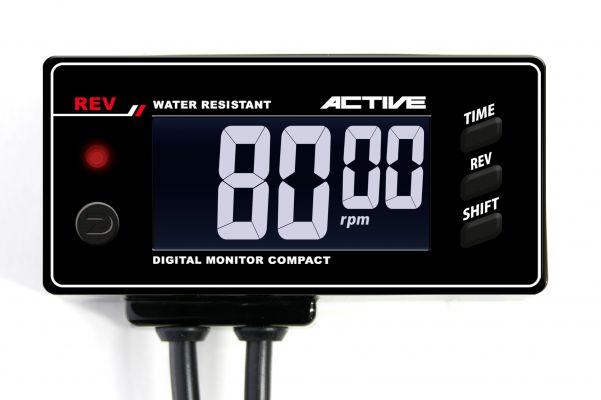 【4538792756967】【送料無料】【アクティブ(ACTIVE)】 デジタルモニター コンパクト レブ タコメーター  12V車用【ACT1080107】