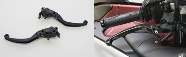 【ACTIVE (アクティブ)】 ビレットレバー RSタイプ [ブレーキ] ショートレバー ブラック CB400SF/SB用【ハンドル回り カスタムパーツ】