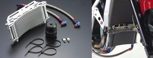 【ACTIVE(アクティブ)】 ラウンドオイルクーラーキット用  ホースリペアセット シルバー ZRX1200R 【補修部品】