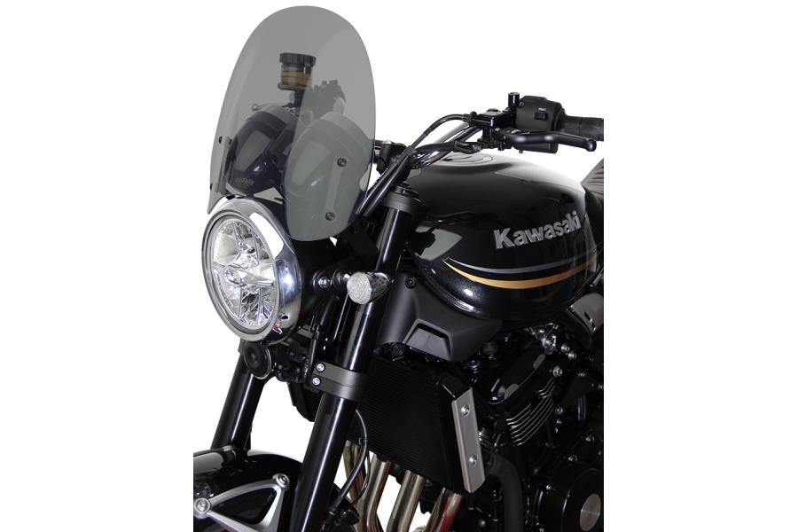 【エムアールエー(MRA)】 スクリーンツーリング ブラック Z900RS 18-19 ツーリングタイプ【Z900RS カスタムパーツ】
