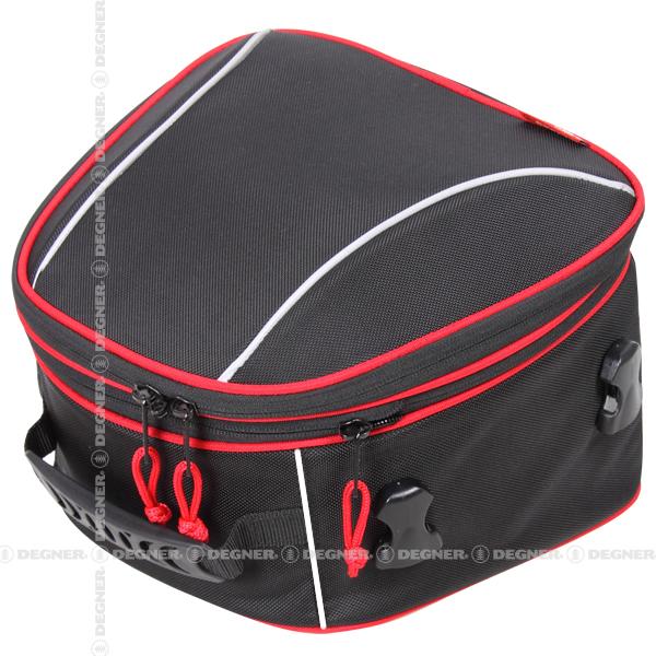 【送料無料】【DEGNER(デグナー)】 容量可変式シートバッグ/DENNER ADJUSTER SEAT BAG (レッドパイピング) [NB-145-RDP] 【WEB正規代理店】