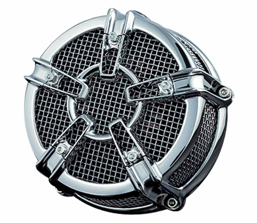 【クリアキン】 MACH2 CO-AXクローム エアクリーナー XL(CVキャブ)91-06 【ハーレー】