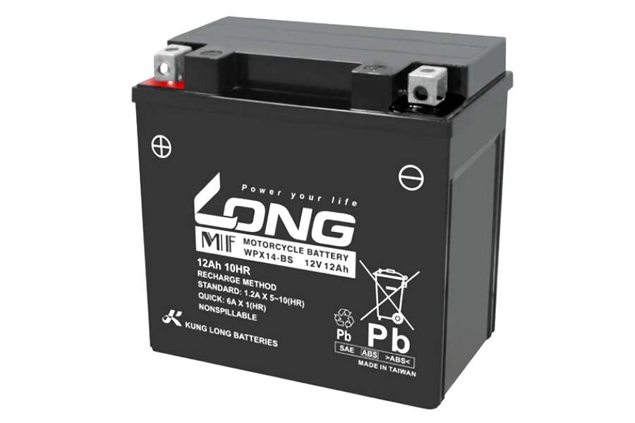 【送料無料】【ロングバッテリー】 【4711946673277】LONG バッテリー 12V/12Ah 液注入済 互換 YTX14-BS 相当 【バッテリー】