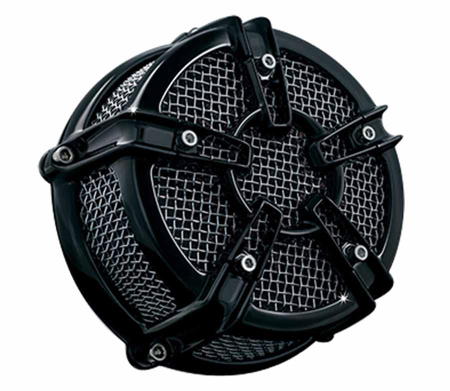 【クリアキン(KURYAKYN)】    MACH2 CO-AX ブラック エアクリーナー ツインカム(CVキャブ/デルファイEFI) 99-17 【PLKUR9576】