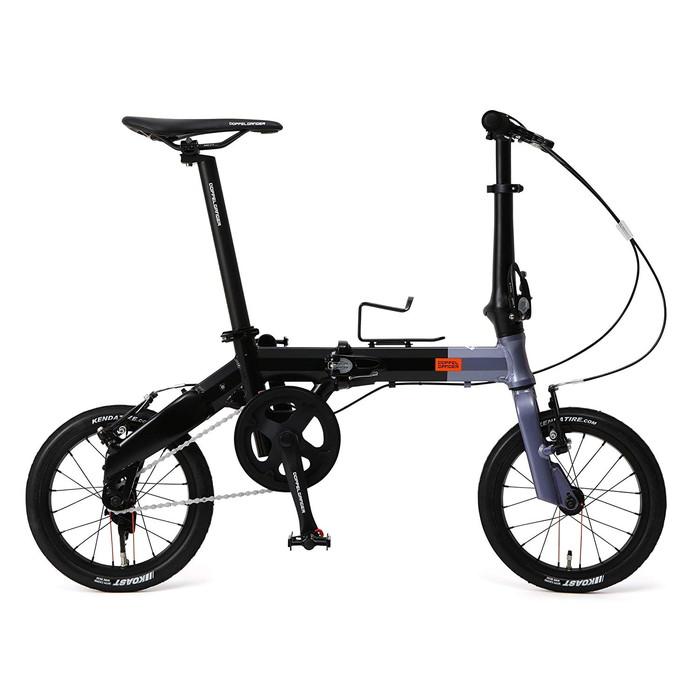 【4589946139617】【送料無料】【ドッペルギャンガー】 14インチ 折りたたみ自転車 140-H-GY [Hakoveloシリーズ] 超軽量アルミフレーム 7.7kg オーバーサイズ ロングシートポスト 採用  【代引き、日時指定配送不可】